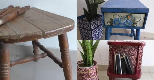 Трансформация стула в два полезных и крутых предмета