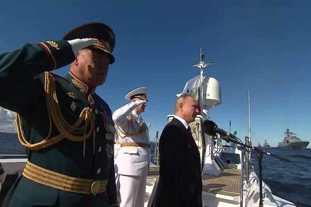 Главный военно-морской парад прошел в Петербурге. Видео