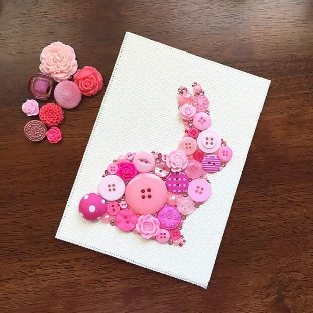 открытки с пуговицами