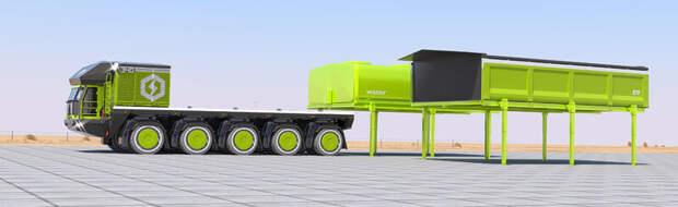 Смена модулей грузового автопоезда ETF