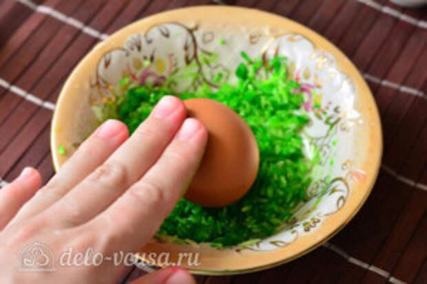 Как покрасить яйца рисом: фото к шагу 4