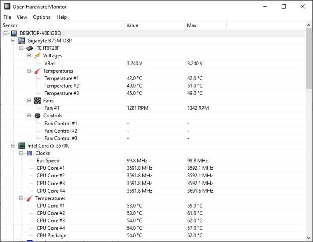 open hardware monitor windows 10 monitoring tool