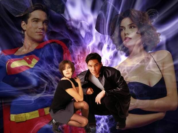 """Коллаж из кадров из сериала """"Лоис и Кларк. Новый приключения Супермена""""  (1993-1997)"""