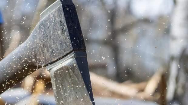 """Петербуржец топором расколол автобусные остановки у метро """"Озерки"""""""