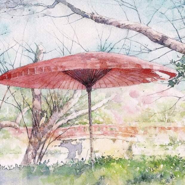 """""""Утро нежное, как солнечные блики..."""" Японский художник Ryoyu Fukui"""