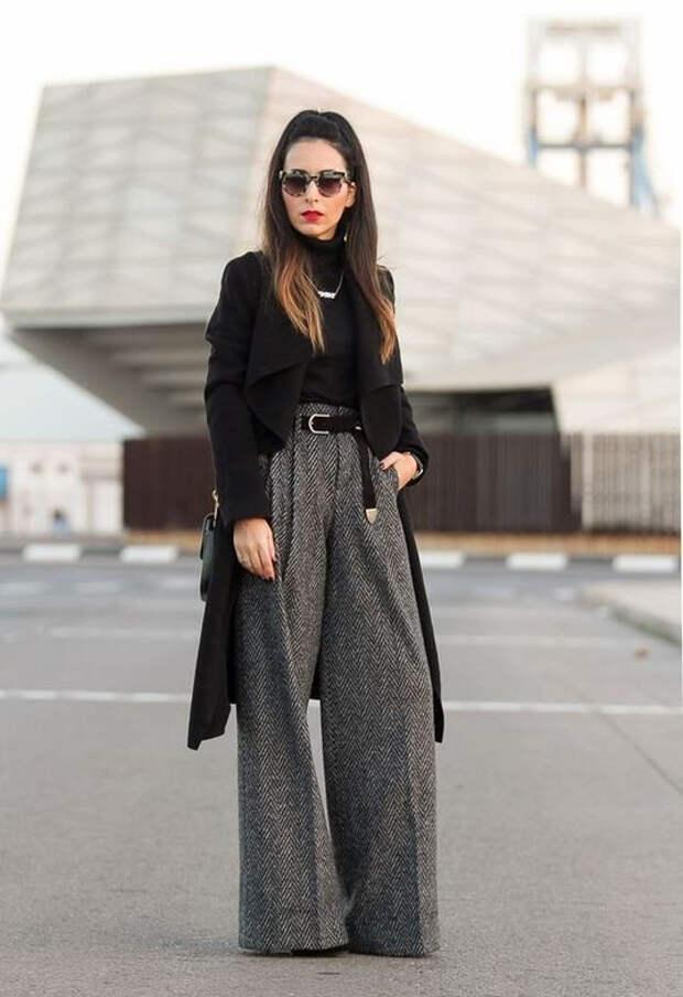 брюки палаццо +с +чем носить