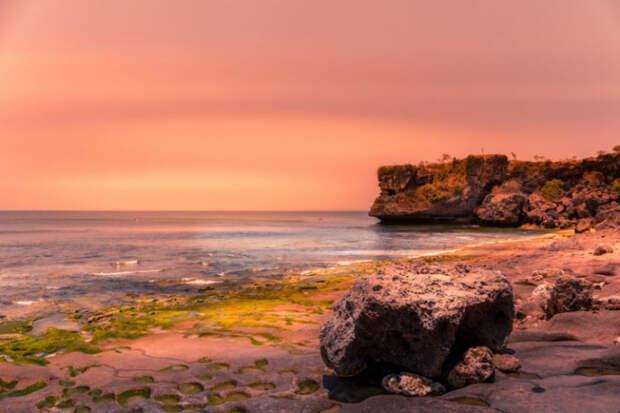 Пляж Баланган на закате на Бали