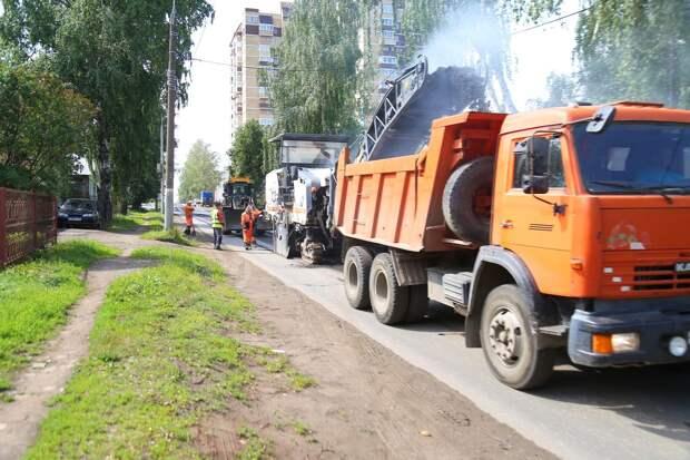 В Ижевске начался ремонт улицы Совхозной