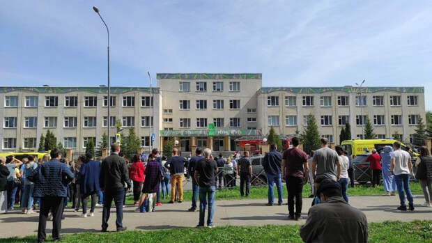Опубликовано видео, снятое во время стрельбы в казанской школе