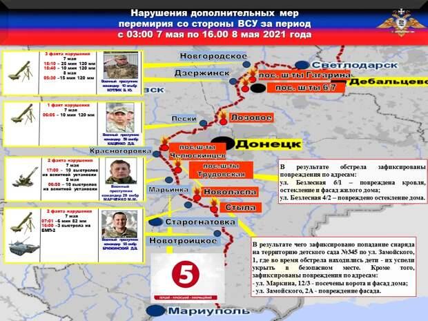 НМ ДНР: В течение недели украинские каратели более тридцати раз обстреляли территорию Республики