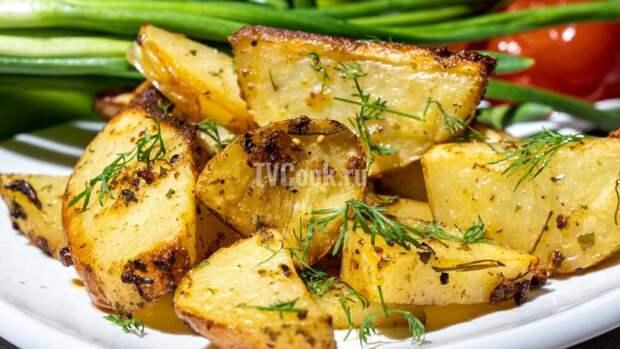 Картошка с приправами по-деревенски — рецепт