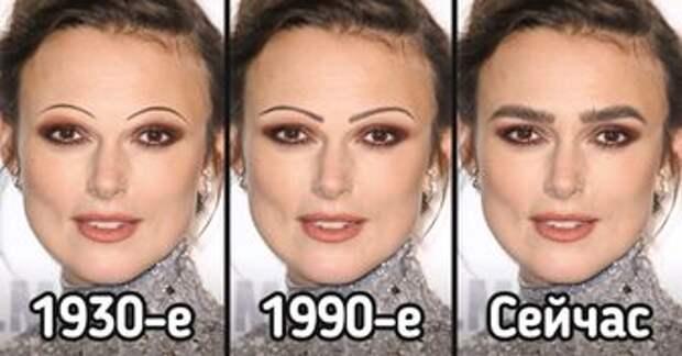 Как за 100 лет менялись стандарты женской красоты, над которыми время беспощадно экспериментировало