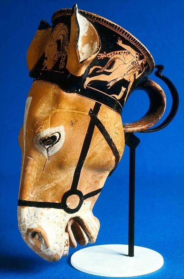 Чаша в виде головы осла, Греция, 480 г. до н.э.