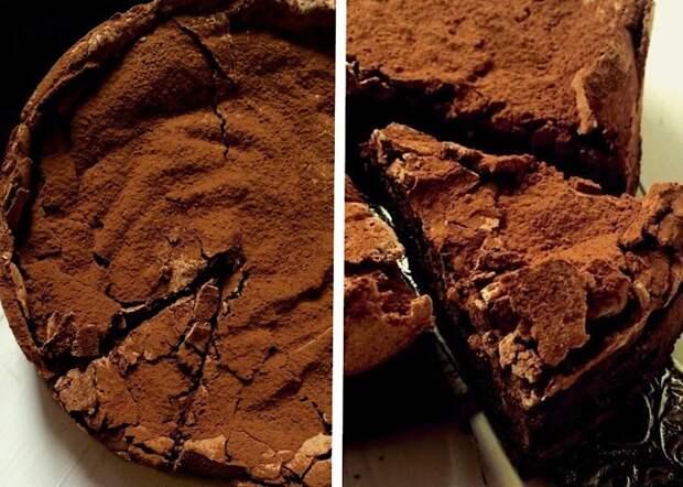 Отменный тортик с шоколадной меренгой