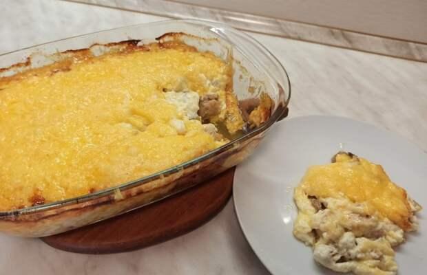 Вкусный ужин - жульен с курицей и грибами без заморочек!