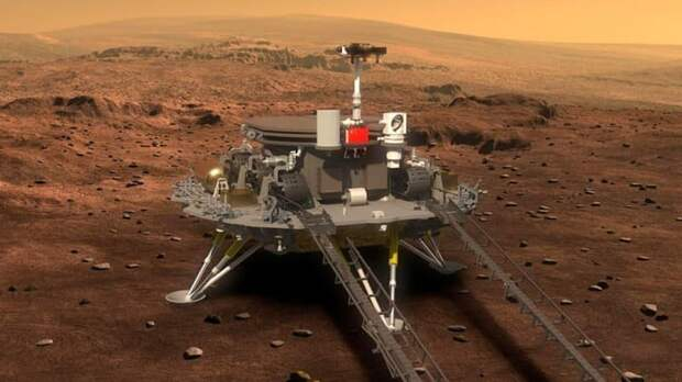Китайский марсоход успешно приземлился на Красной планете