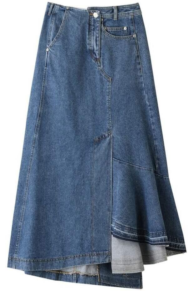 Необычные джинсовые юбки подборка