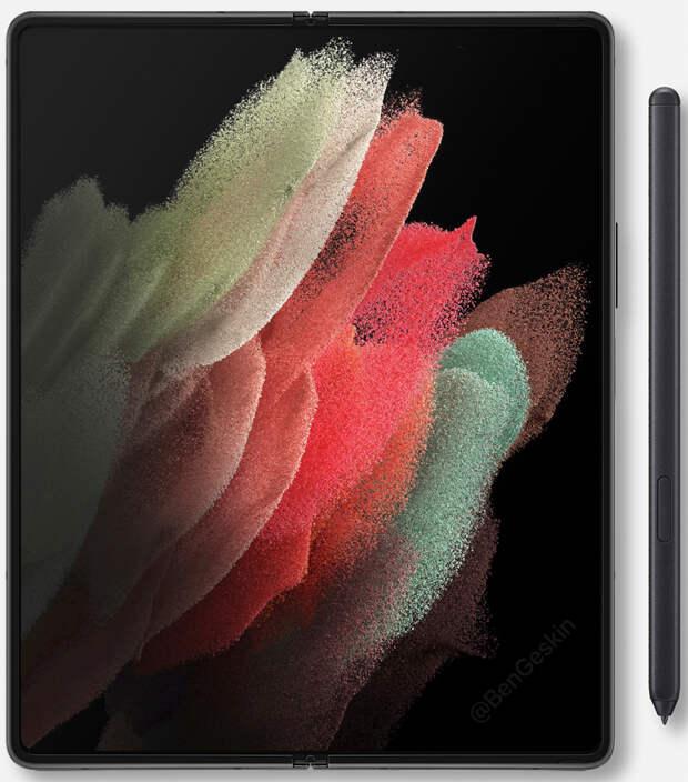 Качественные рендеры раскрыли дизайн смартфона Samsung Galaxy Z Fold 3 с гибким экраном