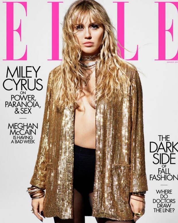 26-летняя Майли Сайрус приняла участие в фотосессии для журнала Elle