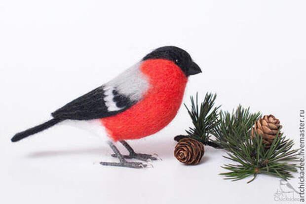 Птички из шерсти ручной работы животные, птицы, рукоделие, своими руками, сделай сам, хенд-мейд