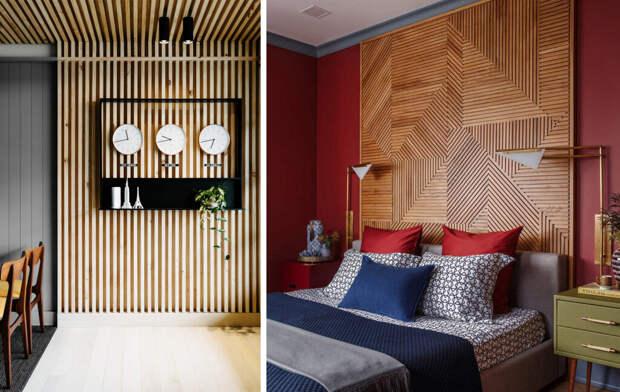 Дерево жизни: деревянные панели в интерьере
