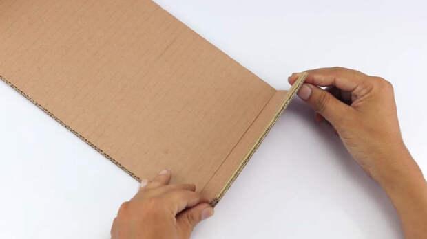 Полезная вещица для дома из ничего — только картон, джут и клей