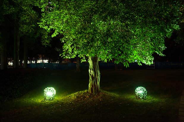 Декоративные садовые светильники.