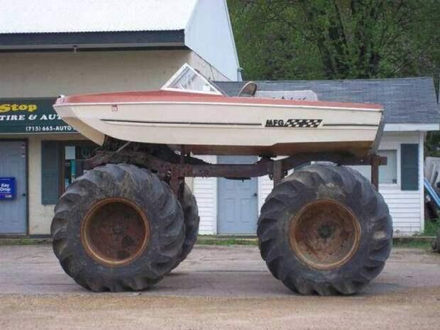 Вездеход из лодки