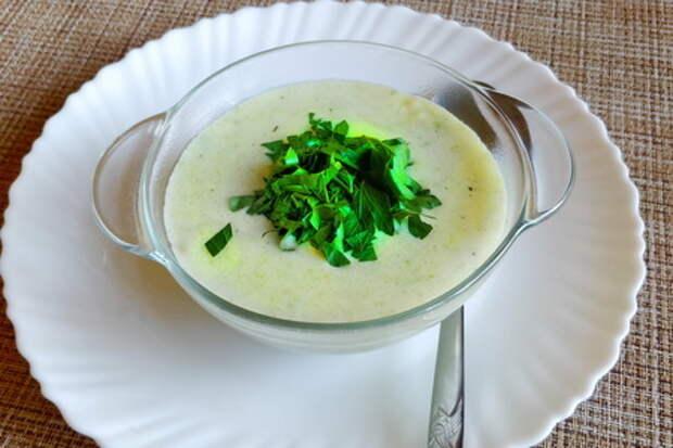 Летний суп-пюре из кабачков
