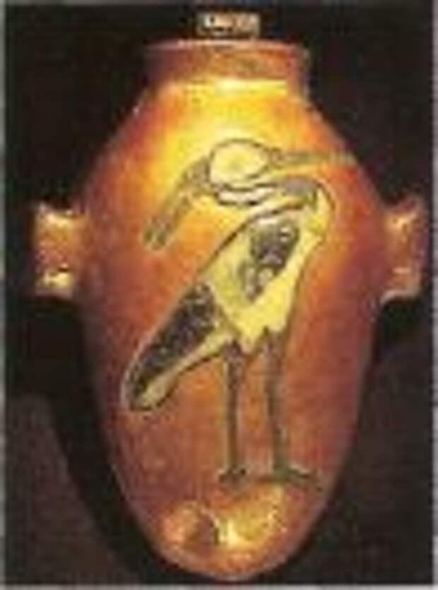 Амулет «Сердце» из гробницы Тутанхамона. Каир, Египетский музей