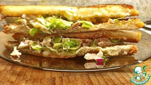 Сэндвич с тунцом, как приготовить сэндвич с тунцом, майонезом и яйцом