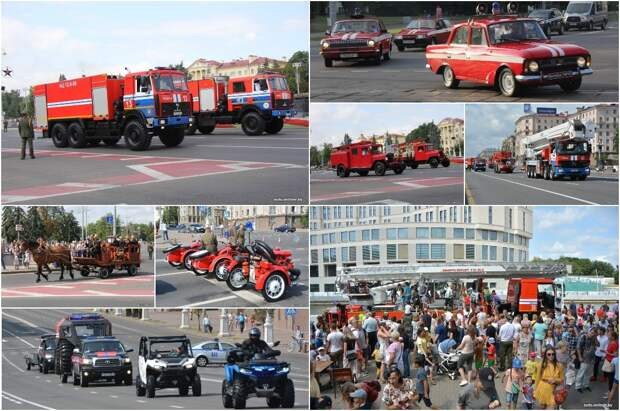 День пожарной службы в Минске: изучаем самую интереснуюспецтехнику