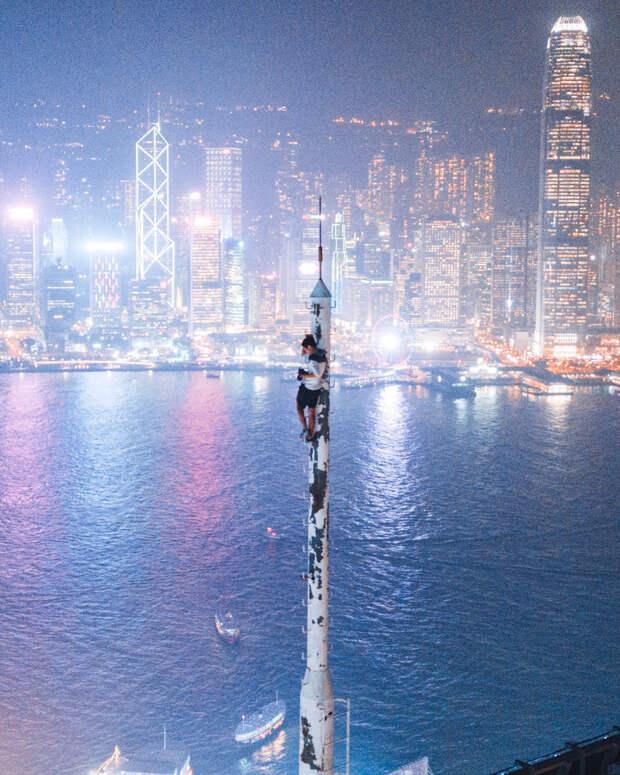 Вид с высоты: фотограф из Гонконга доказывает, что его родной город ночью восхитителен