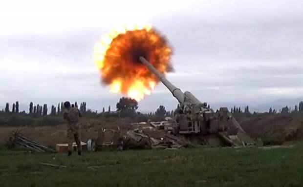 Артиллерия замолчала в Нагорном Карабахе после разговора Путина с Алиевым