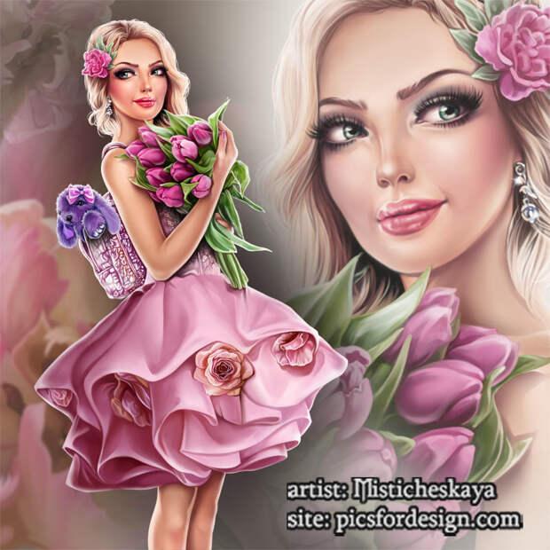 Misticheskaya - Elza with Tulips