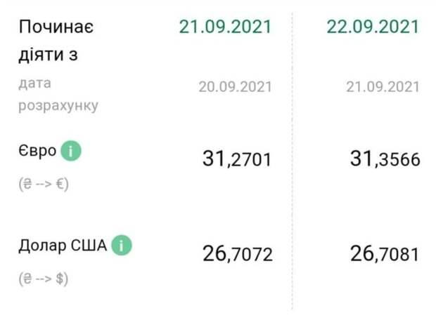 Євро пішов вгору, а долар завмер на місці: курс валют в Україні на 22 вересня