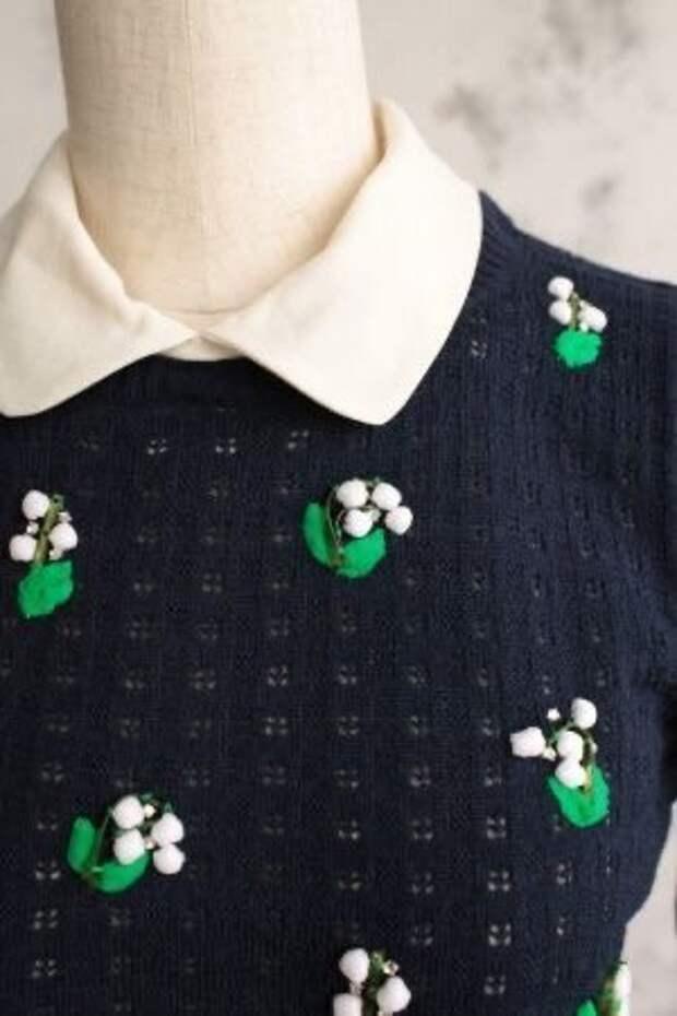 Ландыши- любимый цветок французских модниц и не только, схемы и образцы для вас