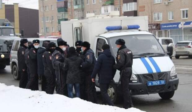 Несколько человек задержаны вовремя митинга ишествия вОрске