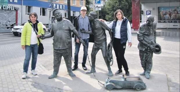 Жители Марьина повидались с Трусом, Балбесом и Бывалым