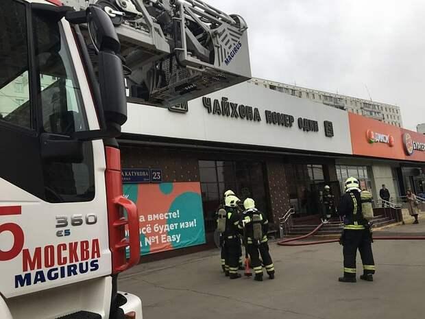 В московском Строгино загорелась чайхона