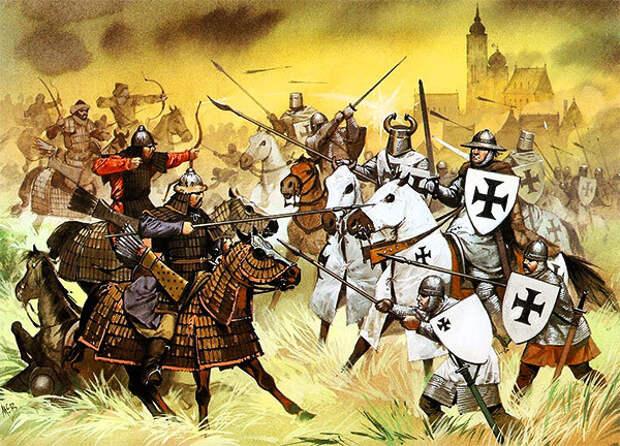 А. Макбрайд. Тевтонские рыцари против монголов в битве при Легнице