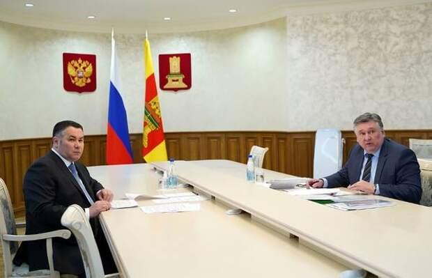 Игорь Руденя обсудил с главой Твери ремонт дорог города