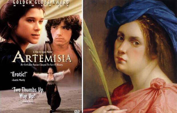 Афиша фильма и портрет Артемизии