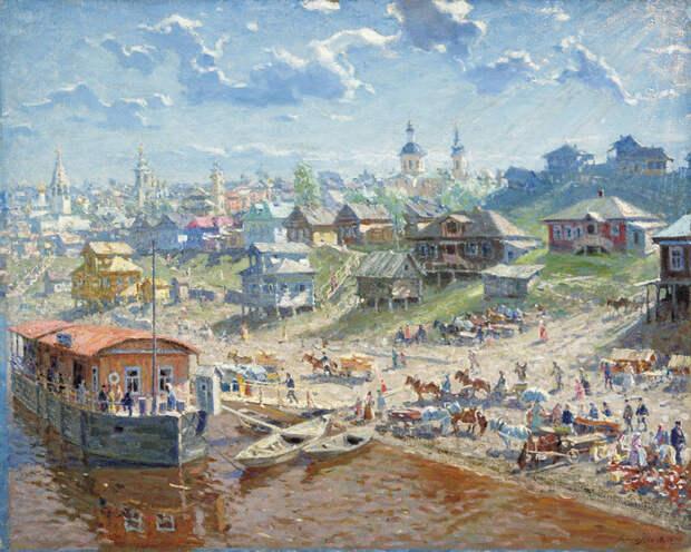 Дебаркадеры на Волге глазами русских живописцев прошлого и современности