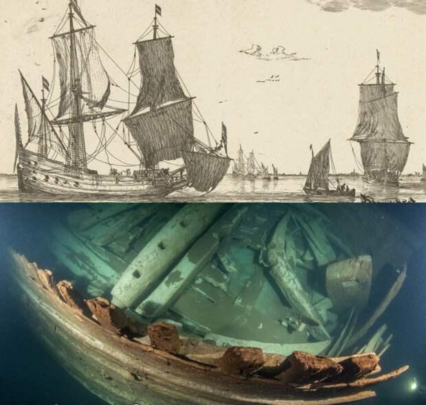 Король балтийской торговли. На дне моря найден 400-летний голландский флейт