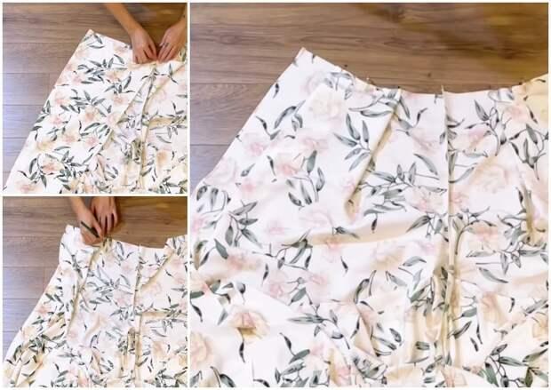 Стильные брюки-юбка с запахом за 1 час: минимум расчетов плюс элементарный крой