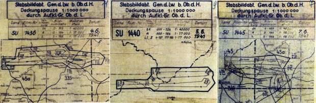 Схемы заданий на разведывательные полёты 4, 5 и 7 июня 1941 года с маршрутами в районе Алитуса, Гродно и Белостока - Крылатые предвестники войны | Warspot.ru