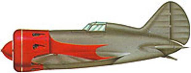 И-16, представленный на выставке в Милане в 1935 году