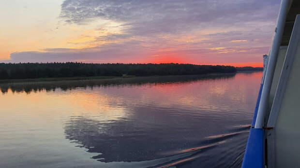Река Свирь на рассвете