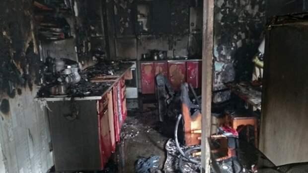 Раскалённое масло на плитке сожгло кухню дома в Крыму